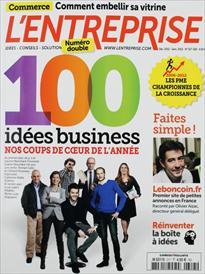 Magazine l'Entreprise - Décembre 2012 / Janvier 2013