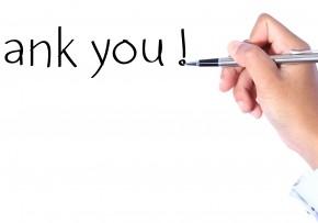 N'oubliez pas de remercier vos client(e)s!