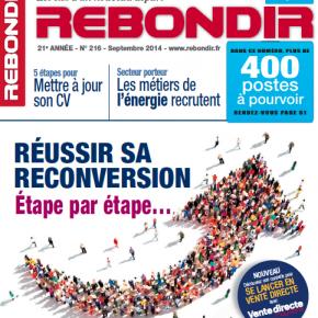 Le magazine Rebondir de Septembre avec son dossier dédié à la Vente Directe