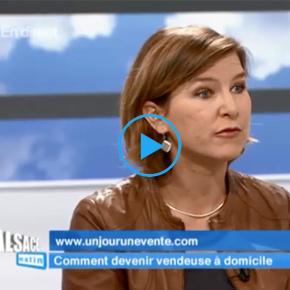 Un Jour Une Vente, invité de France 3 Alsace le 07/10/2014 pour présenter la vente à domicile