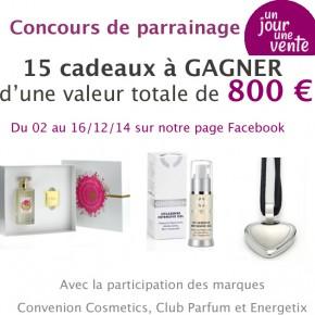 Grand concours UnJourUneVente Facebook