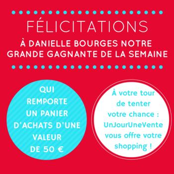 Félicitations à Danielle Bourges !