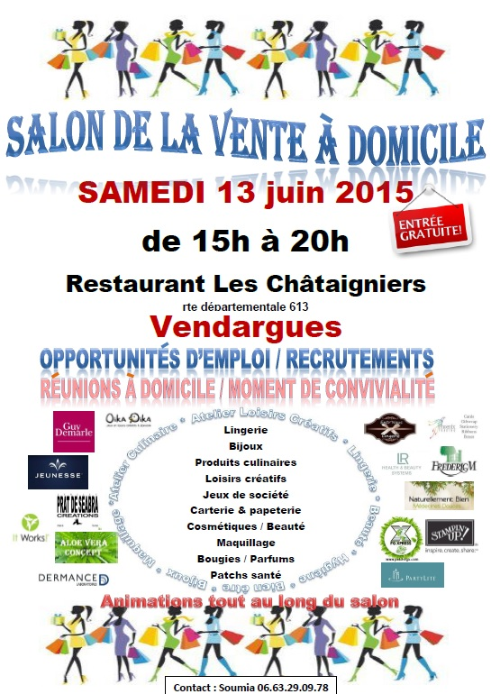 Salon de la vente domicile vendargues un jour une for Salon vdi