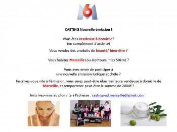 annonce casting vendeuse Marseille