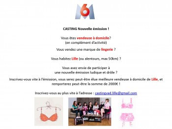 annonce casting vendeuses Lille
