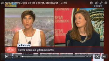 Interview BFM TV Emma Stella and dot