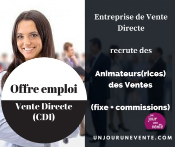 Offre d'emploi CDI Vente Directe