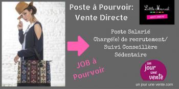 recrutement poste salarié Vente Directe