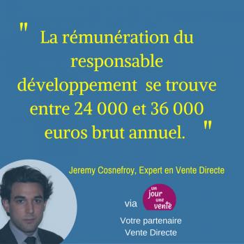 Rémunération du responsable développement Vente Directe