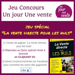 """Gagnez le Livre """"La Vente Directe pour les Nuls""""!"""
