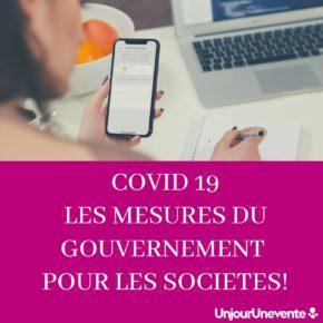 COVID19 : Les mesures du gouvernement pour les Entreprises